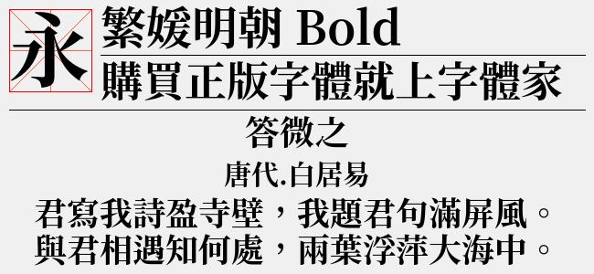繁媛明朝 TW Bold-佚名